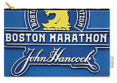 Carry-all Pouch featuring the photograph Boston Marathon - Boston Athletic Association by Joann Vitali