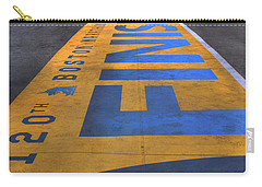 Boston Marathon Finish Line Carry-all Pouch by Joann Vitali