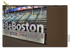 Carry-all Pouch featuring the photograph Boston Marathon Sign by Joann Vitali