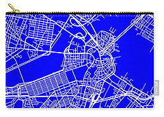 Boston Massachusetts City Map Streets Art Print   Carry-all Pouch
