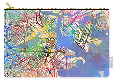 Boston Massachusetts Street Map Extended View Carry-all Pouch