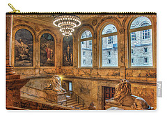 Carry-all Pouch featuring the photograph Boston Public Library Architecture by Joann Vitali