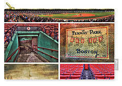 Boston Red Sox Collage - Fenway Park Carry-all Pouch by Joann Vitali
