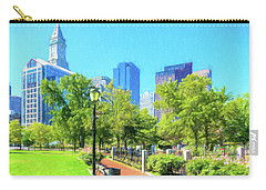 Boston Skyline From Columbus Park Carry-all Pouch