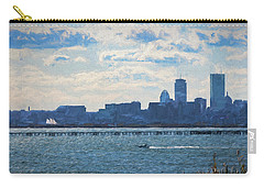 Boston Skyline From Deer Island Carry-all Pouch