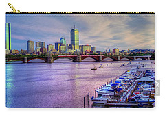 Boston Skyline Sunset Carry-all Pouch by Joann Vitali