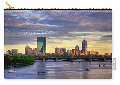 Boston Skyline Sunset Over Back Bay Carry-all Pouch by Joann Vitali