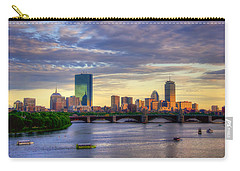 Boston Skyline Sunset Over Back Bay Carry-all Pouch