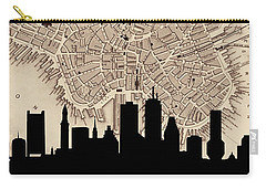Boston Skyline Vintage Carry-all Pouch by Andrew Fare