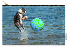 Boston Terrier High Jump Carry-all Pouch