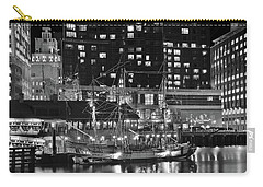Carry-all Pouch featuring the photograph Bostonian Black And White by Frozen in Time Fine Art Photography