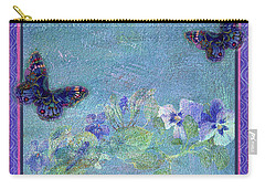 Botanical And Colorful Butterflies Carry-all Pouch