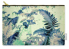 Carry-all Pouch featuring the mixed media Botanical Art - Fern by Bonnie Bruno