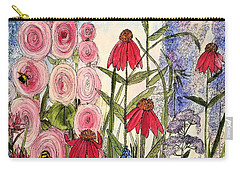 Carry-all Pouch featuring the painting Botanical Wildflowers by Laurie Rohner