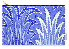 Botanicals In Blue Carry-all Pouch