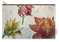 Carry-all Pouch featuring the painting Botanicals by Lucia Grilletto