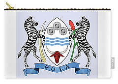 Carry-all Pouch featuring the drawing Botswana Coat Of Arms by Movie Poster Prints