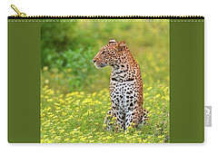 Botswana Leopard  Carry-all Pouch by Happy Home Artistry