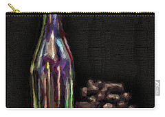 Carry-all Pouch featuring the photograph Bottle And Grapes by Walt Foegelle