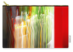 Carry-all Pouch featuring the photograph Bottle By The Window by Susan Capuano