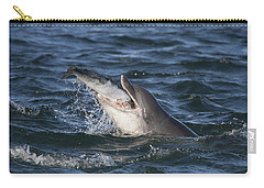 Bottlenose Dolphin Eating A Salmon - Scotland #5 Carry-all Pouch