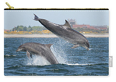 Carry-all Pouch featuring the photograph Bottlenose Dolphin - Moray Firth Scotland #48 by Karen Van Der Zijden