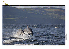 Bottlenose Dolphins Leaping - Scotland  #37 Carry-all Pouch