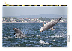 Carry-all Pouch featuring the photograph Bottlenose Dolphins - Moray Firth Scotland #45 by Karen Van Der Zijden