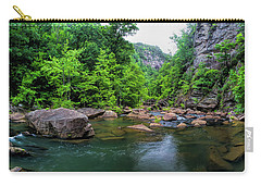 Bottom Of Tallulah Gorge Carry-all Pouch by Barbara Bowen