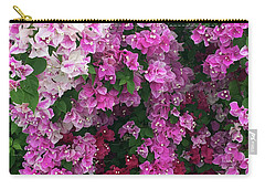 Bougainville Flowers In Hawaii Carry-all Pouch by Karen Nicholson