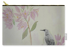 Bougainvillea And Mockingbird Carry-all Pouch by Donna Walsh