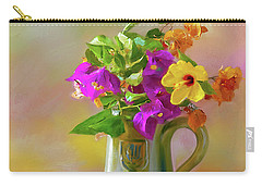 Bougainvilleas In A Green Jar. Carry-all Pouch