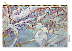 Carry-all Pouch featuring the painting Boughs In Winter by Joanne Smoley