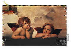 Bouguereau Painting Fresh Paint  Carry-all Pouch by Catherine Lott