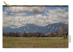 Carry-all Pouch featuring the photograph Boulder Colorado Front Range Panorama View by James BO Insogna
