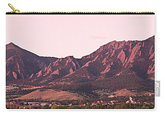 Boulder Colorado Flatirons 1st Light Panorama Carry-all Pouch