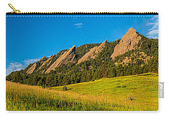 Boulder Colorado Flatirons Sunrise Golden Light Carry-all Pouch