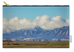 Carry-all Pouch featuring the photograph Boulder Colorado Front Range Cloud Pile On by James BO Insogna