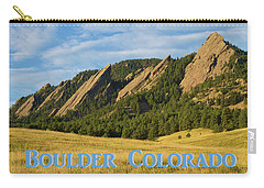 Carry-all Pouch featuring the photograph Boulder Colorado Poster 1 by James BO Insogna