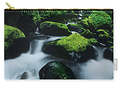 Carry-all Pouch featuring the photograph Boulder Elowah Falls Columbia River Gorge Nsa Oregon by Dave Welling