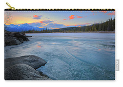 Boulders And Ice On The Athabasca River Carry-all Pouch by Dan Jurak