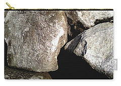 Carry-all Pouch featuring the photograph Boulders by Rebecca Harman