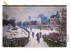Boulevard Saint Denis Argenteuil In Winter Carry-all Pouch
