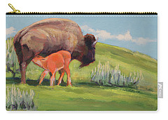 Bouncing Baby Bison Carry-all Pouch