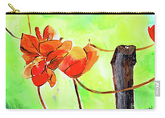 Carry-all Pouch featuring the painting Bound Yet Free by Anil Nene