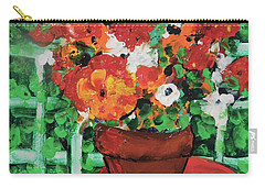 Bouquet A Day Floral Painting Original 59.00 By Elaine Elliott Carry-all Pouch