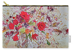 Carry-all Pouch featuring the painting Bouquet Desjours by Joanne Smoley