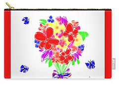 Carry-all Pouch featuring the photograph Bouquet Doodle by Karen Molenaar Terrell