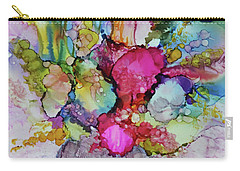 Carry-all Pouch featuring the painting Bouquet In Pastel by Joanne Smoley