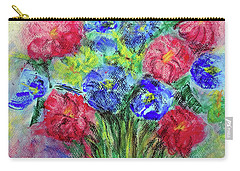 Bouquet Carry-all Pouch by Jasna Dragun